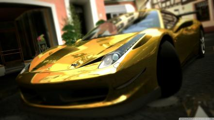 Gold ferrari 458 italia wallpaper