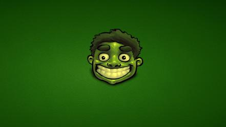 Hulk (comic character) artwork green background Wallpaper