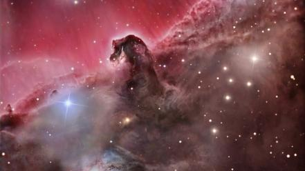 Outer space horsehead nebula wallpaper