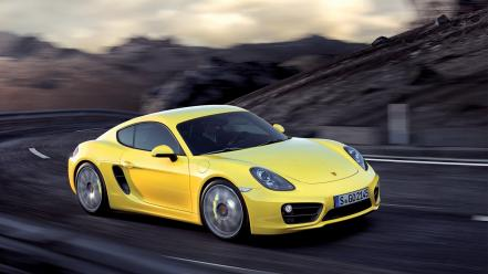 Porsche cars roads cayman vehicles s 2013 wallpaper