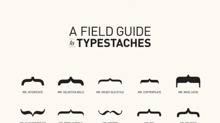 Typography charts mustache Wallpaper