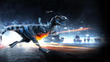 Video games dinosaurs funny parody battlefield 3 rex wallpaper