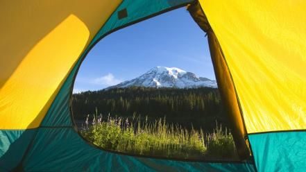 National park washington mount rainier view wallpaper