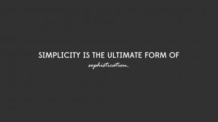 Quotes desing simplicity sophistication wallpaper