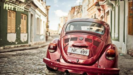 Streets cars volkswagen beetle south america wallpaper