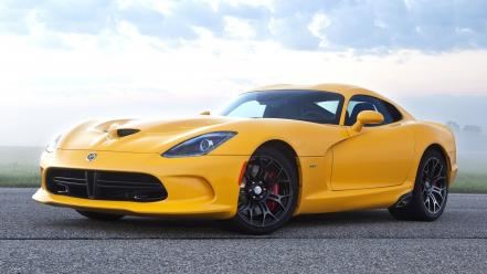 Yellow cars viper dodge Wallpaper