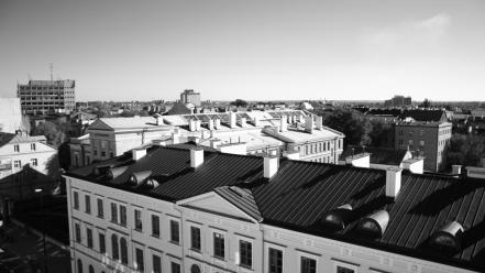 Black and white polish poland lublin cities wallpaper