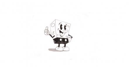 Black and white spongebob squarepants toon characters Wallpaper