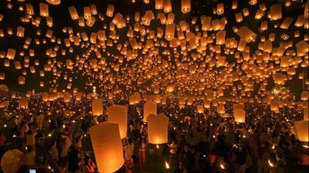 Festival lanterns thailand mai Wallpaper