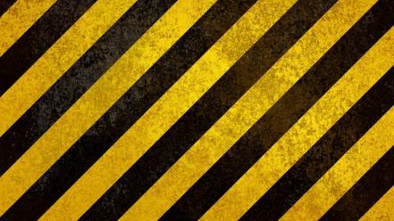 Grunge textures warning stripes hazard wallpaper