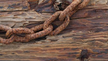 Iron rusted chains wallpaper