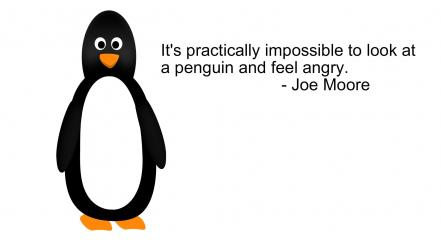 Minimalistic white quotes penguins grayscale simplistic and black wallpaper
