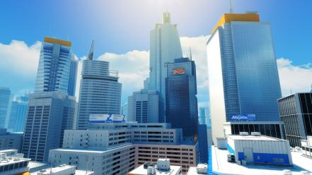 Mirrors edge buildings wallpaper