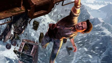 Mountains snow trains uncharted nathan drake 2 Wallpaper