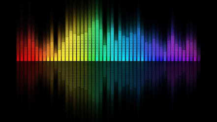 Music graph equalizer bar wallpaper