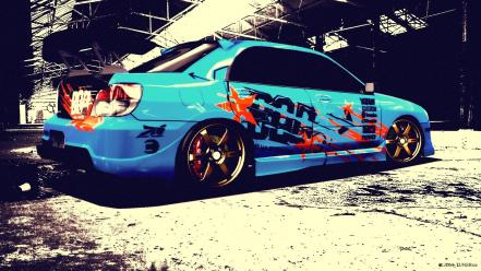 Subaru impreza forza motorsport 4 tuned car wallpaper