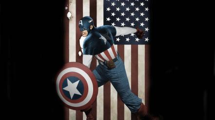 Captain america shield marvel comics american flag wallpaper