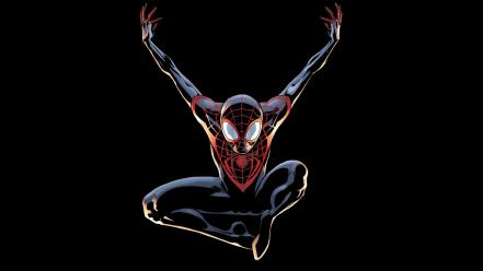 Comics spider-man superheroes marvel black background ultimate wallpaper