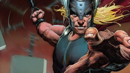 Marvel norse avengers mjolnir comic art now wallpaper