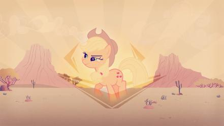 Ponies applejack my little pony: friendship is magic wallpaper