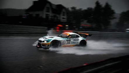 Rain cars wet bmw z4 racing wallpaper