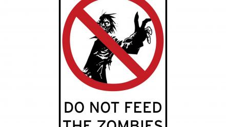 Zombies signs feed the sign wallpaper