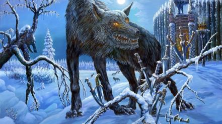 Fantasy art artwork mythology werewolves vsevolod ivanov wallpaper