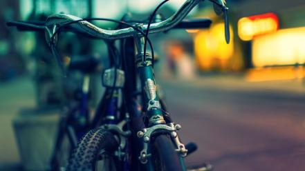 Bicycles bokeh blurred background wallpaper