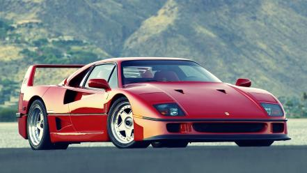 Cars ferrari roads vehicles red f40 wallpaper