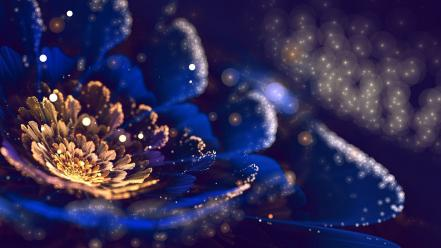 Flowers fractal art Wallpaper