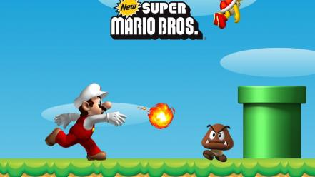 Nintendo mario super bros. goomba ds koopa troopa wallpaper