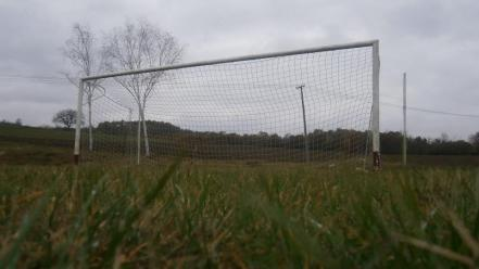 Serbia football field goal village abandoned net wallpaper