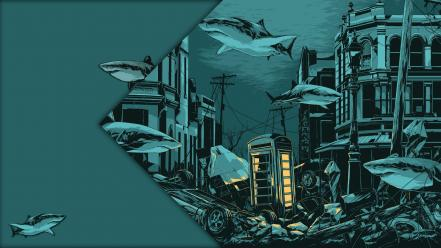 Sharks billy talent dead silence telephone pole sea Wallpaper
