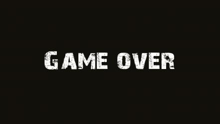 Text brown game over wallpaper