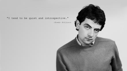 Black and white quotes mr. bean rowan atkinson wallpaper