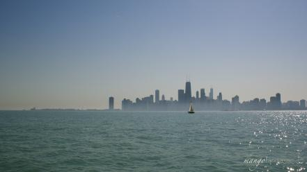 Chicago sailing downtown wallpaper