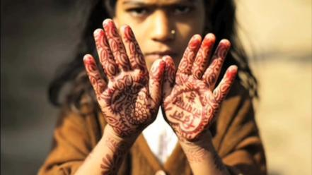 Hands henna children wallpaper