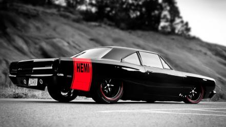 Road runner hemi side view american auto wallpaper