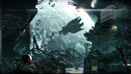 Concept art artwork drawings site space exploration - Space explorer wallpaper ...