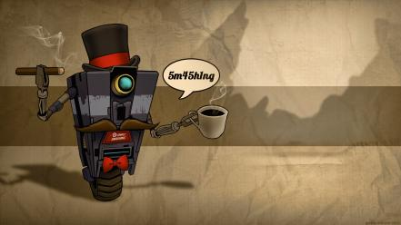 Cups cigars bowtie mustache top hat sir wallpaper
