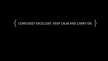 Dark keep calm and carry on confused Wallpaper