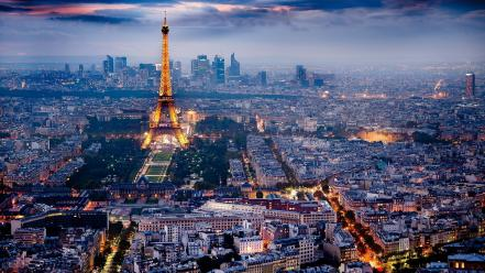 Eiffel tower paris city lights skyline wallpaper