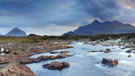 Kingdom scotland panorama rivers isle of skye wallpaper