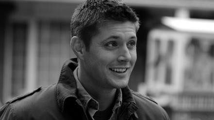 Supernatural grayscale jensen ackles dean winchester (tv series) wallpaper