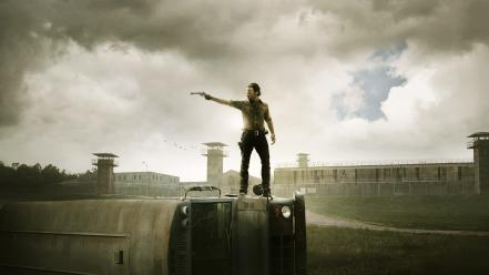 The walking dead tv series rick grimes wallpaper