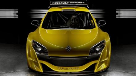 Yellow cars front trophy wallpaper