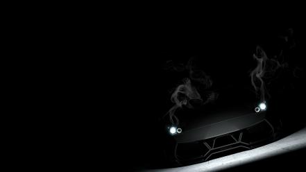 Dark cars smoke lamborghini murciélago lp670-4 sv headlights Wallpaper