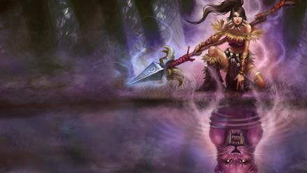 League of legends fantasy art nidalee Wallpaper