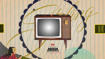 Wilco lying down artwork television stripes children Wallpaper