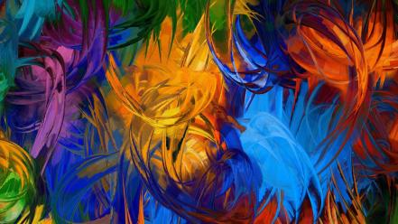 Abstract paintings colors Wallpaper
